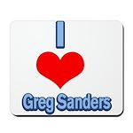 I Heart Greg Sanders2 Mousepad