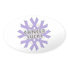 Cancer Sucks Hodgkin Lymphoma Sticker (Oval)