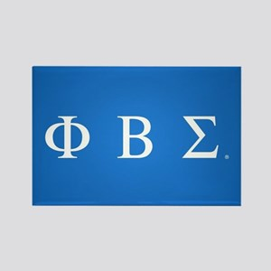 Phi Beta Sigma Letters Rectangle Magnet