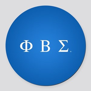 Phi Beta Sigma Letters Round Car Magnet