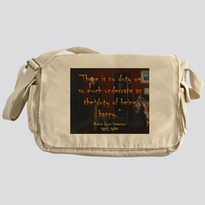 There Is No Duty - Stevenson Messenger Bag