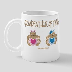Grandfather Of Twins- Boy/Girl Mug