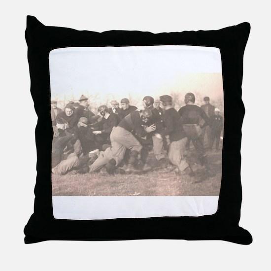 Football_leatherheads Throw Pillow