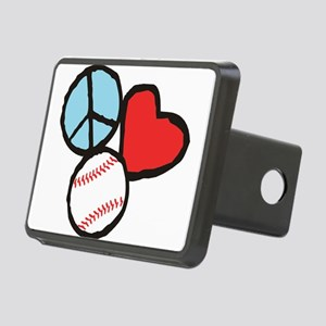 Peace, Love, Baseball Hitch Cover