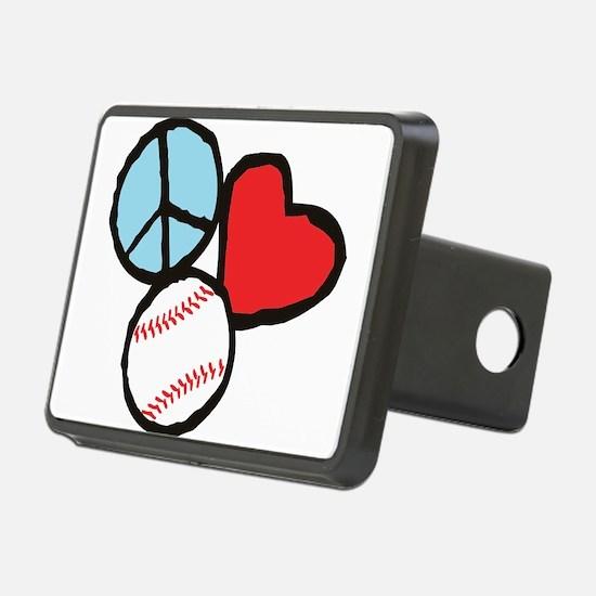 Peace, Love, Baseball Hitch Cover