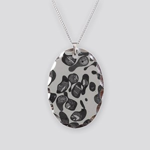 hrocytes at ring stage - Necklace Oval Charm