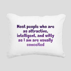 Humble Conceit Rectangular Canvas Pillow