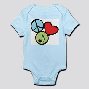 Peace, Love, Music Infant Bodysuit