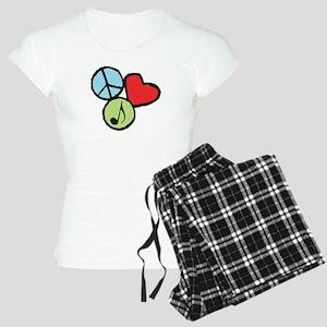 Peace, Love, Music Women's Light Pajamas