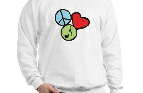 Peace Love Music Sweatshirt