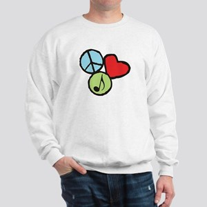 Peace, Love, Music Sweatshirt