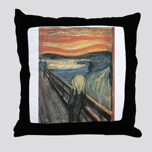 The Scream painting Throw Pillow