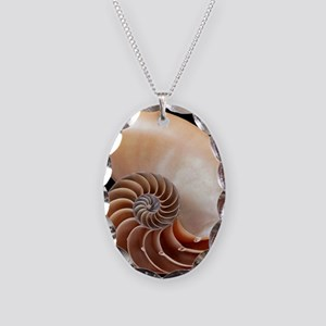 Nautilus shell - Necklace Oval Charm