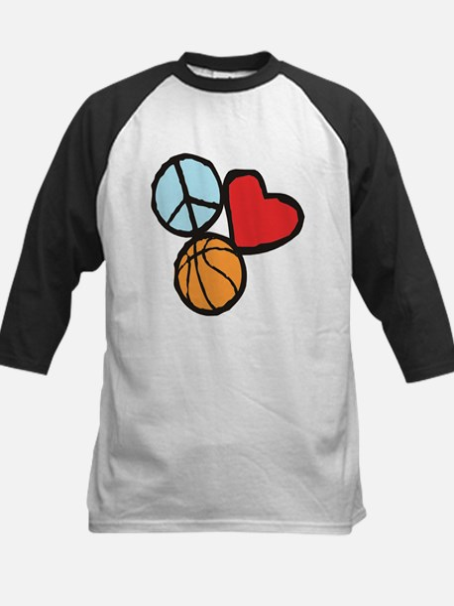 Peace, Love, Basketball Baseball Jersey
