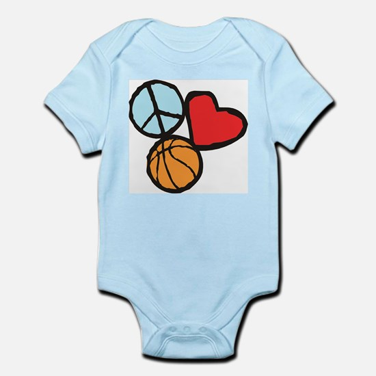 Peace, Love, Basketball Body Suit