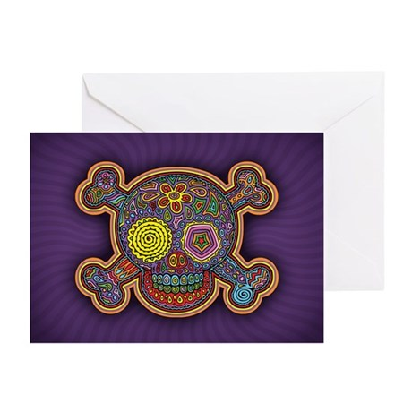 DOD Skull-1c Greeting Cards (Pk of 10)
