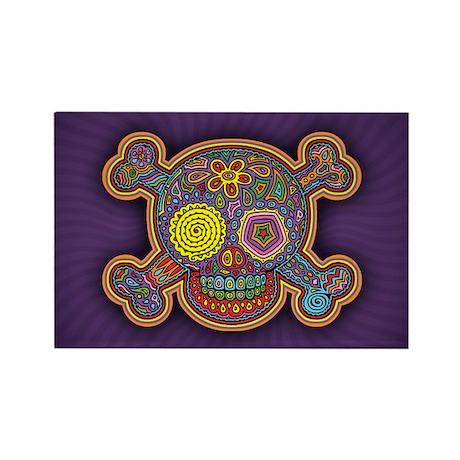DOD Skull-1c Rectangle Magnet (100 pack)