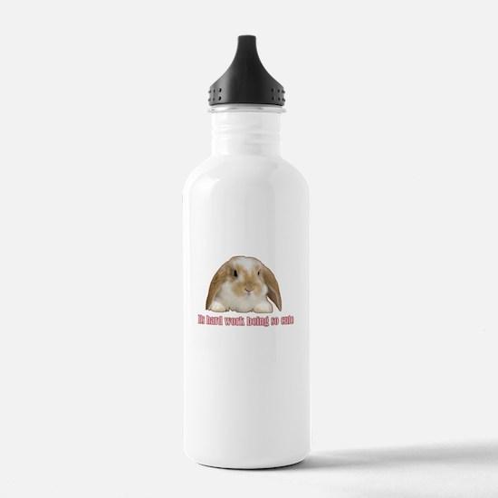 Its hard work being so cute Water Bottle