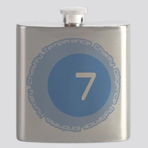 Seven 7 Virtues Number Design Flask