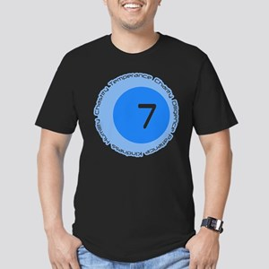 Seven 7 Virtues Number Design T-Shirt