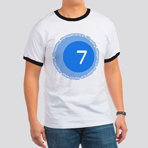 Seven 7 Virtues Number Design T-Shirt