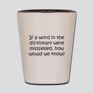 Misspelled word in Dictionary Shot Glass