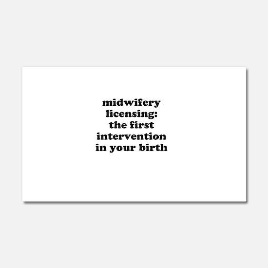 Midwifery licensing Car Magnet 20 x 12