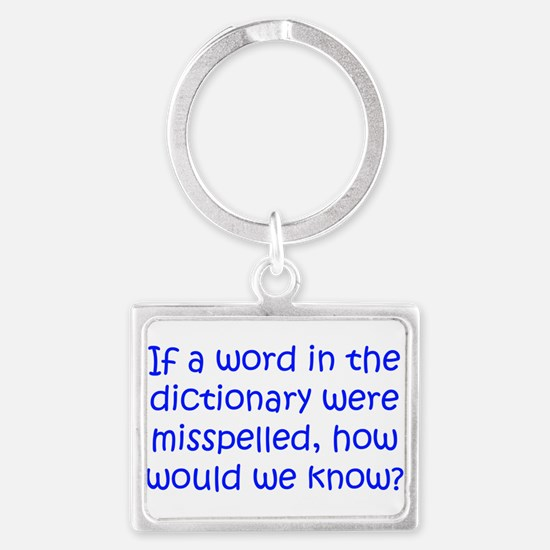 Misspelled word in Dictionary Landscape Keychain