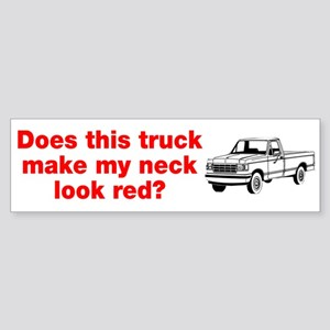 Truck Make Neck Look Red Sticker (Bumper)