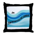 SWIMMER Throw Pillow