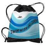 SWIMMER Drawstring Bag