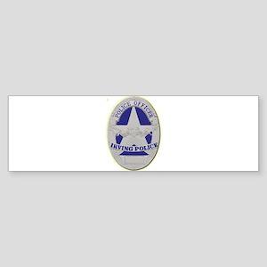Irving Police Bumper Sticker