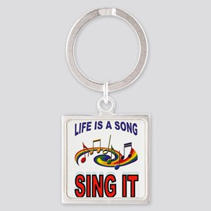 SONG OF LIFE Square Keychain