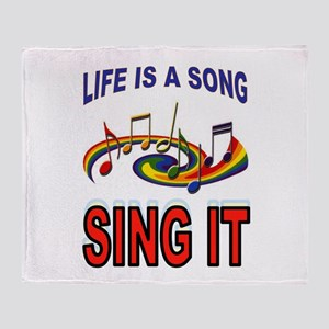 SONG OF LIFE Throw Blanket
