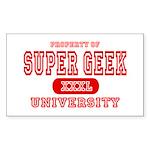 Super Geek University Rectangle Sticker