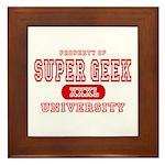 Super Geek University Framed Tile