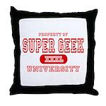 Super Geek University Throw Pillow