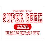 Super Geek University Small Poster