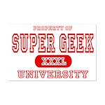 Super Geek University Mini Poster Print
