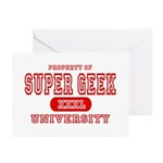 Super Geek University Greeting Cards (Pk of 10