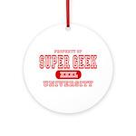 Super Geek University Ornament (Round)