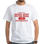 Super Geek University White T-Shirt