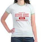 Super Geek University Jr. Ringer T-Shirt