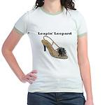 Leapin' Leopard Jr. Ringer T-Shirt