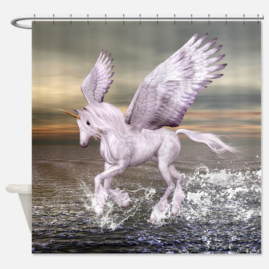 Pegasus-Unicorn Hybrid Shower Curtain