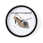 Leapin' Leopard Wall Clock
