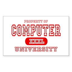 Computer University Rectangle Decal