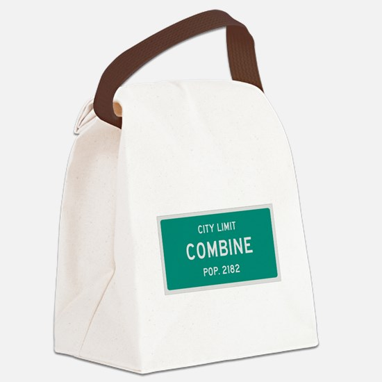 Combine, Texas City Limits Canvas Lunch Bag