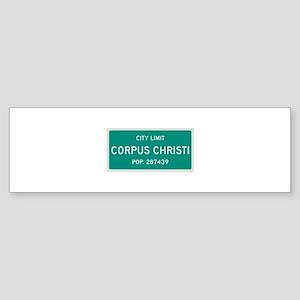 Corpus Christi, Texas City Limits Bumper Sticker