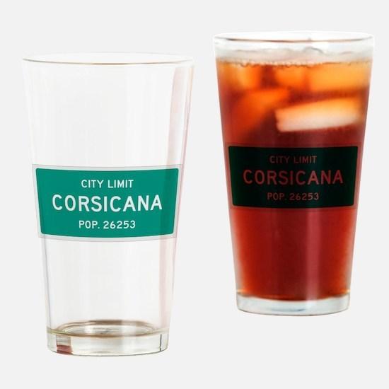 Corsicana, Texas City Limits Drinking Glass